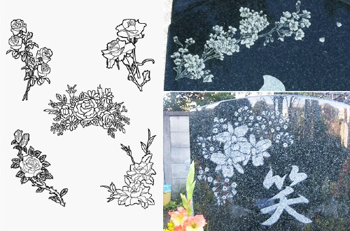 お花の彫刻の種類